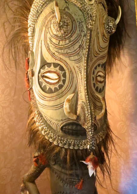 African mask at Albion Manor in Victoria, BC. Photo by Curtis Mekemson.