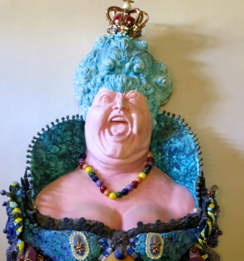 The fat lady sings. Art at Albion Manor in Victoria, BC. Photo by Curtis Mekemson.