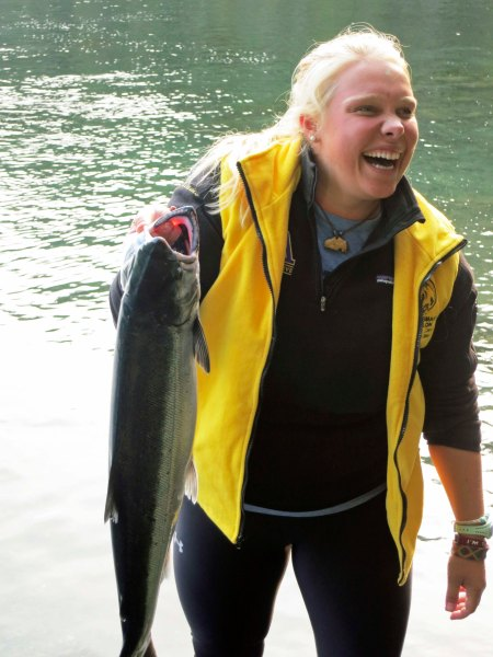Coho salmon caught in Blackfish Sound, British Columbia. Photo by Curtis Mekemson.