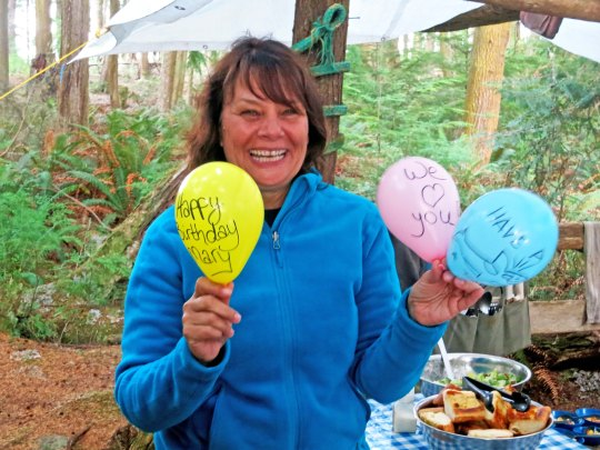 Back in camp, Mary celebrated her birthday...