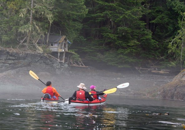 Sea Kayak Adventures likes to stop for lunch at the beach next to Orca-Lab on Hanson Island.