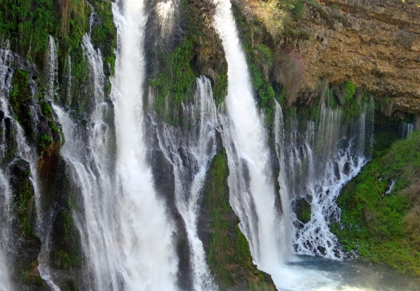 January: Burney Falls. Northern California