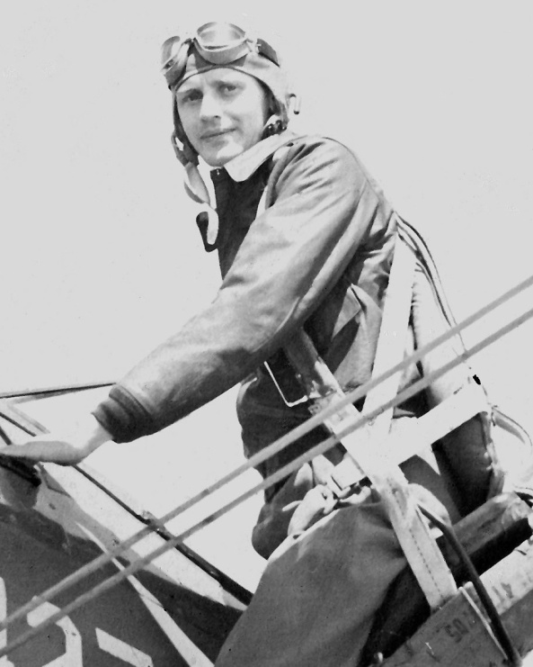John Dallen on first solo flight as a member of the Army Air Corps in early World War II.