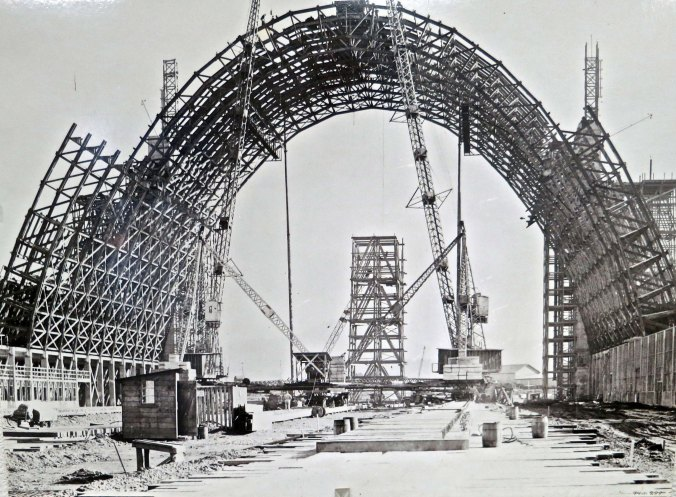 Building the two hangars at Tillamook was a massive undertaking. Unstable ground, a ferocious winter, and the use all provided challenges.