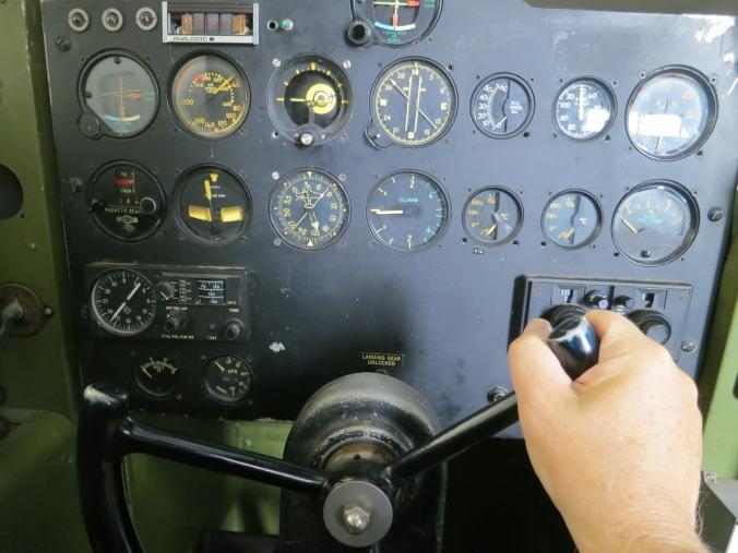 Flight simulator for a C-46 at the Tillamook Air Museum in Oregon.