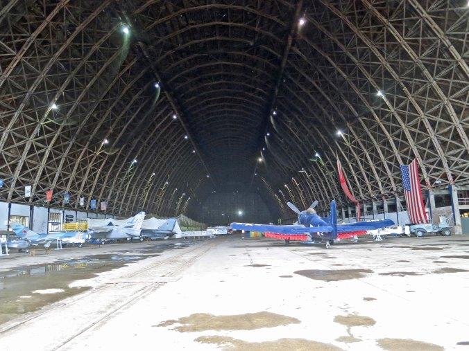 A view inside the Tillamook Air Museum that served as a blimp hangar during World War II.