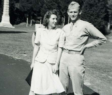 A photo of John and Helen Dallen during World War II.