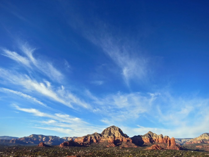 November: Sunset in Sedona, Arizona.