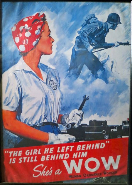 World War II Woman Ordinance Worker poster found at the Tillamook Air Museum.