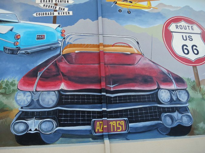 Route 66 mural in Kingman, Arizona.