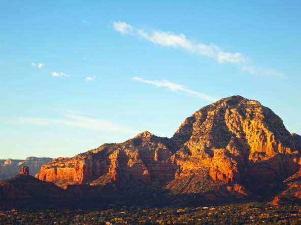 Capitol Butte and Chimney Rock in Sedona, Arizona. Photo by Curtis Mekemson.