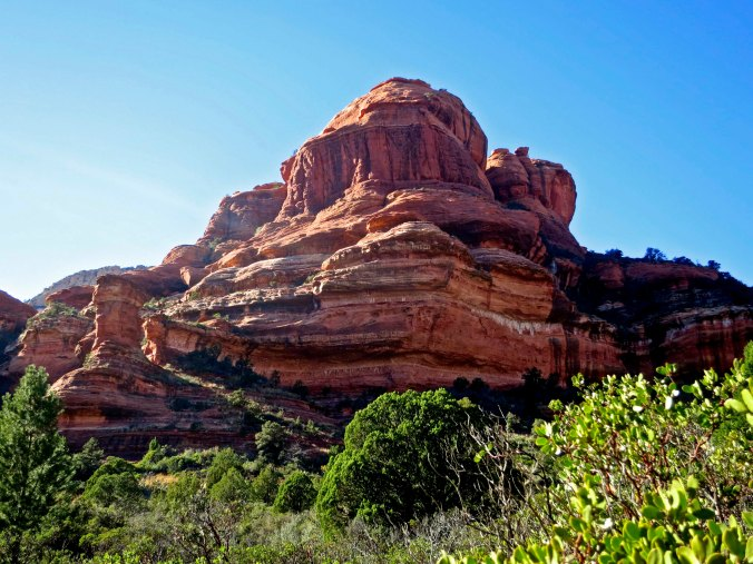 Photo by Curtis Mekemson of a grinning rock formation in Sedona, Arizona.
