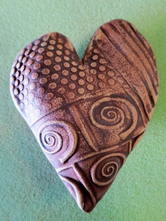 One of the hearts that Marian was producing for Valentines Day.
