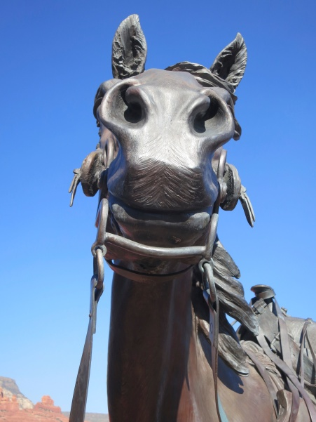 Statue of horse from downtown Sedona, Arizona. Photo by Curtis Mekemson.