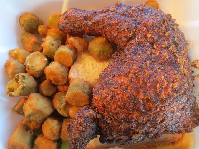 Chicken quarter at Pepperfire Restaurant in Nashville, Tennessee. Photo by Curtis Mekemson.