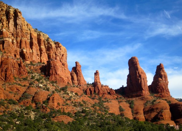 View of rock formations near Church of Holy Cross in Sedona Arizona. Photo by Curtis Mekemson.
