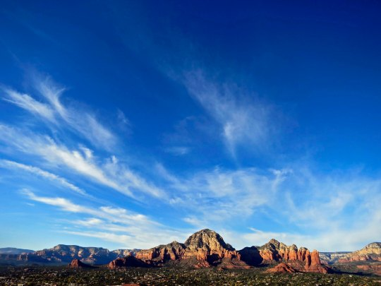 The sun sets on Capitol Buttes in Sedona, Arizona. Photo by Curtis Mekemson.