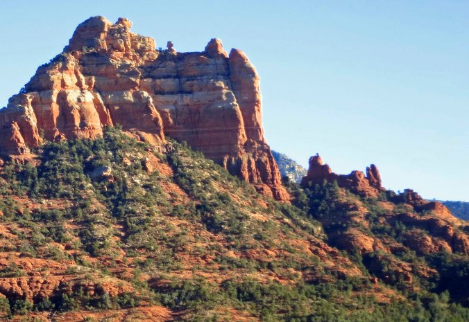 Snoopy rock formation in Sedona, Arizona.
