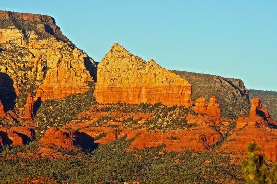 Steamboat rock formation in Sedona, Arizona. Photo by Peggy Mekemson.