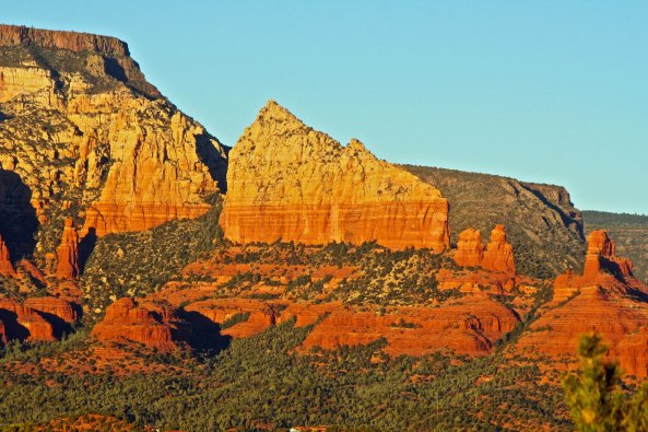 Steamboat rock formation in Sedona, Arizona. Photo by Peggy Mekemson.