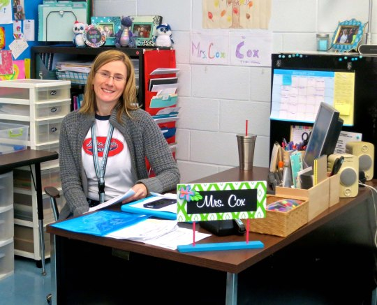Tasha in her fifth grade classroom at Indian Lake Elementary School.