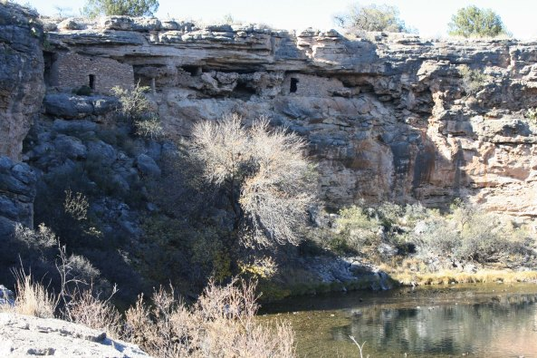 Montezuma's Well and cliff house in the Verde Valley of Arizona.