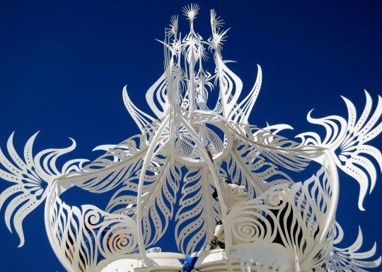 Fantasy sculpture at Burning Man.