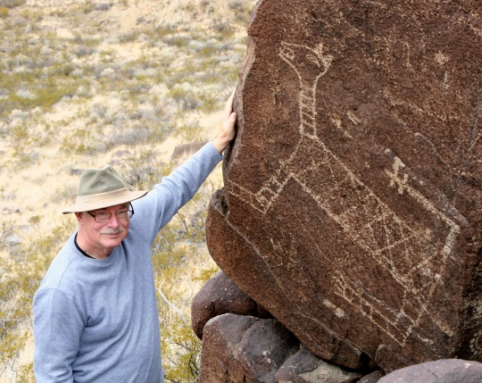 We call this large cat a cougar, mountain lion, puma… it would be interesting to know what the ancient Native American who made this rock art thought about and called his creation.