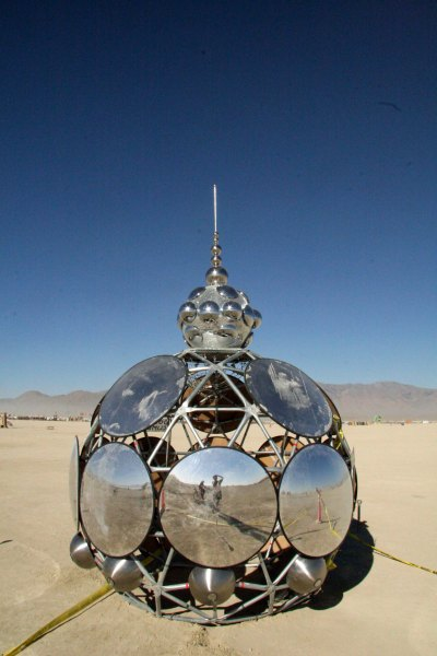 In fact I am always photographing myself in mirrors at Burning Man. (I'm the tiny image.) Is it ego? Or is it simply the fact that it is damned hard to photograph a mirror without putting yourself in it?