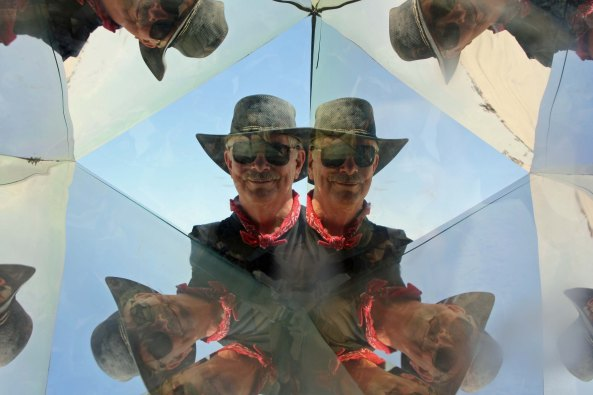 Since I started with a kaleidoscope photo of Peggy, It is only fair that I end with one of me.