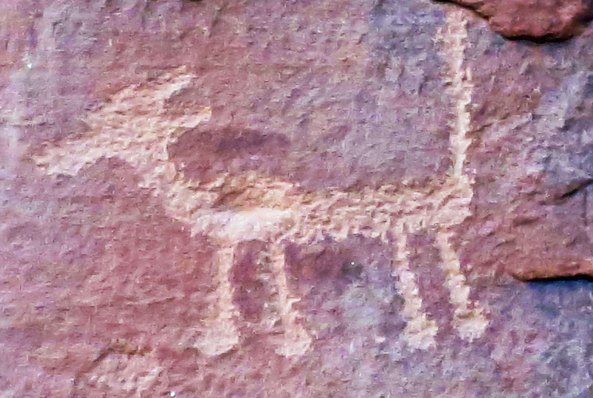 Rock art at V-Bar-V Heritage Site near Sedona, Arizona