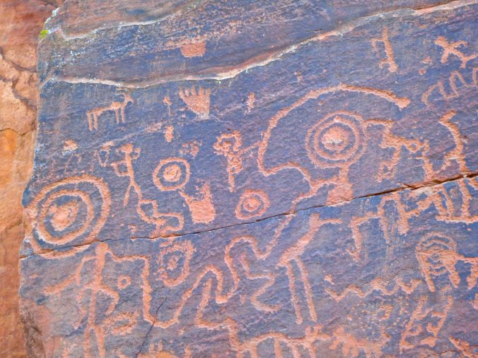 Sinagua rock art at the V-Bar-V Heritage Site in the Verde Valley of Arizona.