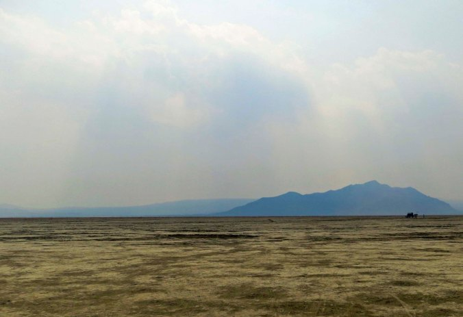 Looking out from Burning Man across the Black Rock Desert playa.