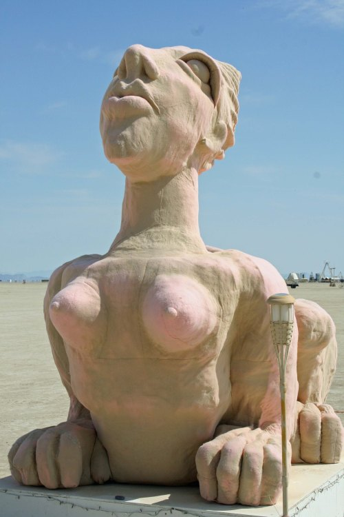 Going topless isn't uncommon, as demonstrated by this lady sphinx.