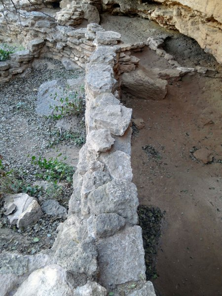 Ruins of Native American shelters found at Montezuma's Well in Verde Valley, Arizona.