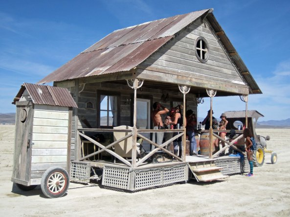 Another one of my favorites, a bar on wheels. You never knew where it might show up on the Playa but it was always good for a free drink.