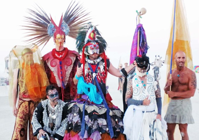 I'll close with these elaborately costumed guys who would fit right into the Mardi Gras or Venice. NEXT BLOG: Mutant Vehicles