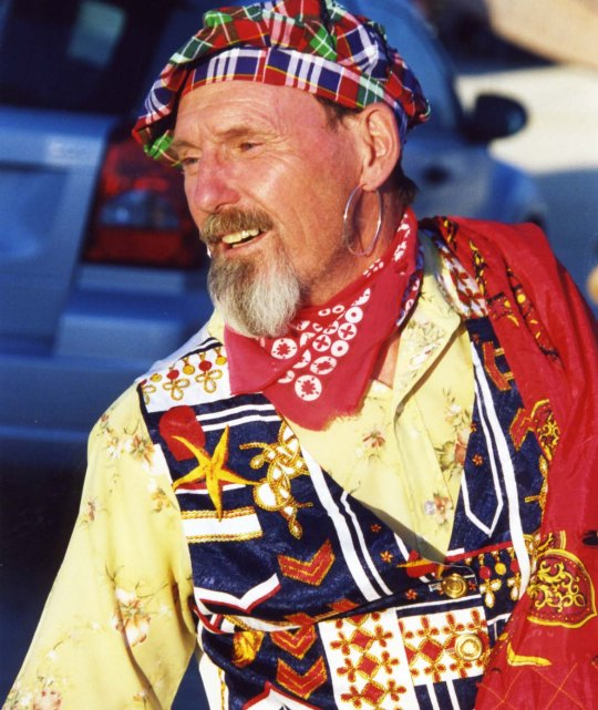 Costumes are an integral part of Burning Man and some people such as my friend Ken (aka Scotty) Love to dress up.