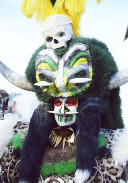 Some costumes, such as this shaman, can be incredibly elaborate.