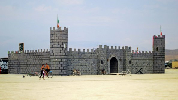 This tribe or camp chose to build a castle on the Esplanade as a dancing venue.