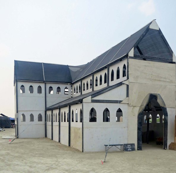 This mega-church was built by a Burner who wanted to get married in Black Rock City.