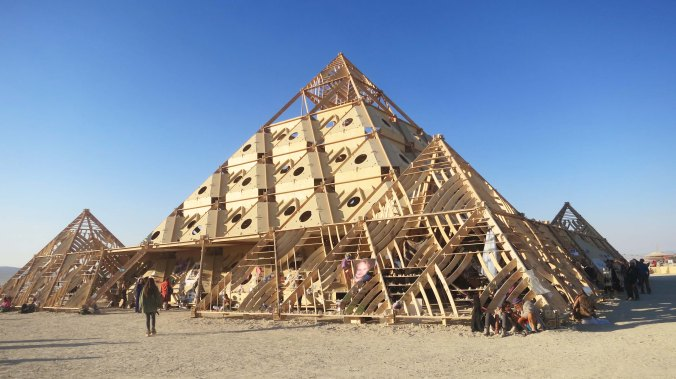 This temple was pyramidal in shape.