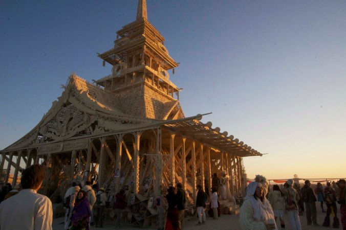 Burning Man's Temple of Juno in 2012
