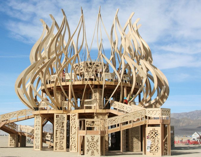 The Temples at Burning Man are unique and quite beautiful.