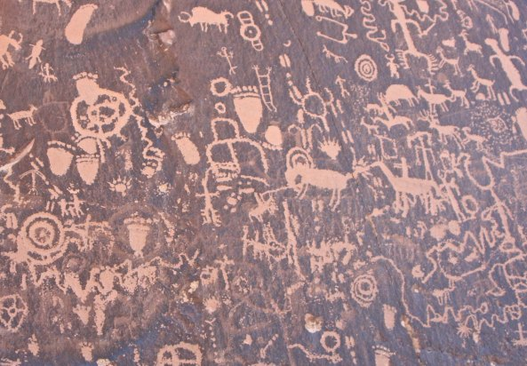 Newspaper Rock National Historic Site in Utah.