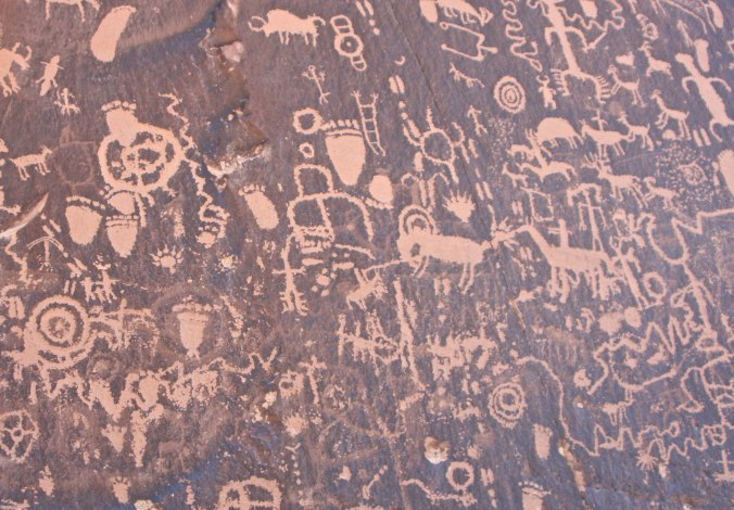 Newspaper Rock National Historic Site in Utah.