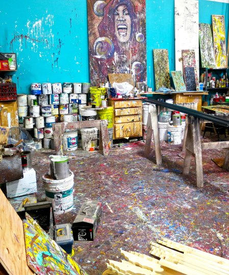 Painter's art studio at the Generator in Reno, Nevada.