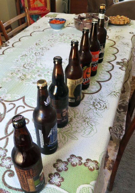 BSBC is only partially about books. This particular meeting featured a beer tasting. Dinners are often planned around whatever food was featured in the book.