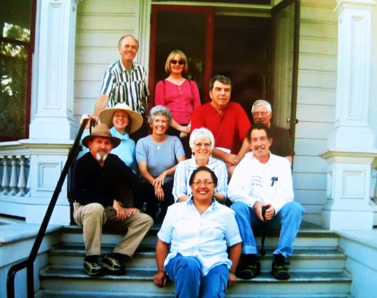 The five couples of the BSBC on the steps of John Muir's home, now a museum, in the Bay Area.