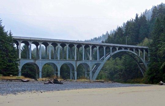 Cape Creek Bridge in Lane County on the Oregon Coast.